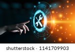 technical support customer... | Shutterstock . vector #1141709903