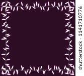 square vector frame of garlands.... | Shutterstock .eps vector #1141710776