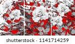 collection of designer oil... | Shutterstock . vector #1141714259