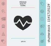 heart medical icon   Shutterstock .eps vector #1141715129