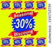 seasjnal discount  sale tags... | Shutterstock .eps vector #1141715759