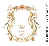 frame  border in art nouveau... | Shutterstock .eps vector #1141716479