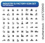 industrial and factory vector... | Shutterstock .eps vector #1141720043