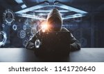 no face hacker working on... | Shutterstock . vector #1141720640