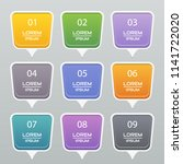 circle sticker  label colorful...   Shutterstock .eps vector #1141722020