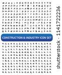construction vector icon set | Shutterstock .eps vector #1141722236