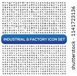industrial and factory vector... | Shutterstock .eps vector #1141723136
