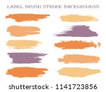 messy label brush stroke... | Shutterstock .eps vector #1141723856