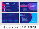 set of business card templates. ... | Shutterstock .eps vector #1141724060