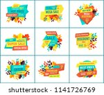special offer  discount and... | Shutterstock .eps vector #1141726769