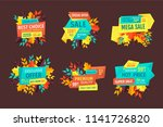 discount and sale logos  autumn ... | Shutterstock .eps vector #1141726820