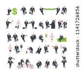 office life set corporate.... | Shutterstock . vector #1141726856