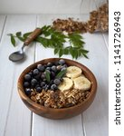 homemade breakfast granola with ...   Shutterstock . vector #1141726943