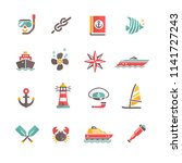 set of icons sea | Shutterstock .eps vector #1141727243