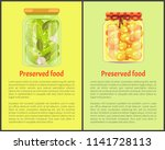 preserved food posters ... | Shutterstock .eps vector #1141728113