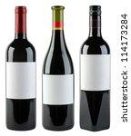 Unlabeled Wine Bottles Isolate...