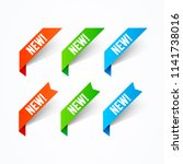 vector illustration new label...   Shutterstock .eps vector #1141738016