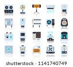 hvac flat icons set. vector... | Shutterstock .eps vector #1141740749