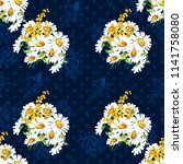 seamless floral pattern with... | Shutterstock .eps vector #1141758080