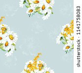seamless floral pattern with... | Shutterstock .eps vector #1141758083