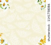 seamless floral pattern with... | Shutterstock .eps vector #1141758086