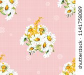 seamless floral pattern with... | Shutterstock .eps vector #1141758089