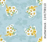 seamless floral pattern with... | Shutterstock .eps vector #1141758113