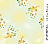 seamless floral pattern with... | Shutterstock .eps vector #1141758119