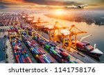 logistics and transportation of ... | Shutterstock . vector #1141758176