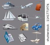 illustration of set images for... | Shutterstock .eps vector #1141771976