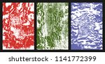 colored grunge texture. set of... | Shutterstock .eps vector #1141772399