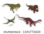 dinosaurs in isometric style....   Shutterstock .eps vector #1141772633