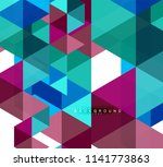 multicolored triangles abstract ... | Shutterstock .eps vector #1141773863