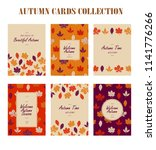 autumnal card collection... | Shutterstock .eps vector #1141776266