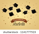 congratulations graduation card | Shutterstock .eps vector #1141777523