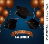 congratulations graduation card | Shutterstock .eps vector #1141777526