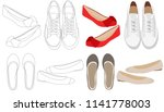 vector  sketch shoes  women... | Shutterstock .eps vector #1141778003