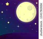 the moonlight and star with...   Shutterstock .eps vector #1141782836