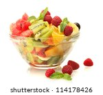 Fresh Fruits Salad In Bowl  And ...