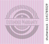 extended warranty badge with... | Shutterstock .eps vector #1141785029