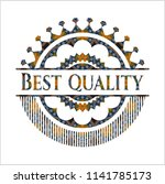 best quality arabic style badge.... | Shutterstock .eps vector #1141785173