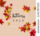 autumn sale background layout ... | Shutterstock .eps vector #1141787210