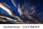 fantastic starry sky over the... | Shutterstock . vector #1141788329