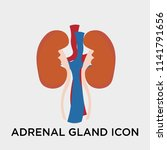 adrenal gland icon vector... | Shutterstock .eps vector #1141791656
