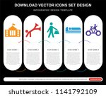 5 vector icons such as city... | Shutterstock .eps vector #1141792109