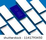 app mock up template vector... | Shutterstock .eps vector #1141793450