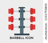 barbell icon vector isolated on ... | Shutterstock .eps vector #1141793843