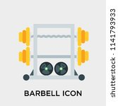 barbell icon vector isolated on ... | Shutterstock .eps vector #1141793933