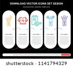 5 vector icons such as american ... | Shutterstock .eps vector #1141794329