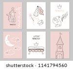 set of cute creative card... | Shutterstock .eps vector #1141794560